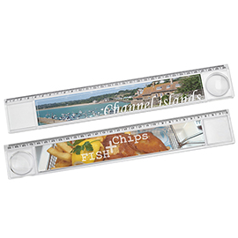 Ruler with magnifier
