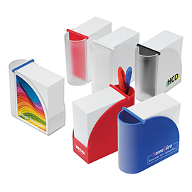 Design memo block holder with integrated organizer